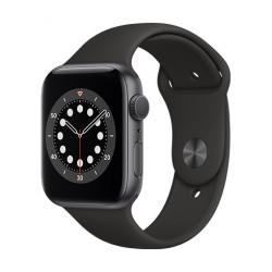 Apple Watch Series 6 GPS, 44mm Space Gray Aluminium Case with Black Sport Band  + VYHRAJ PEUGEOT 208