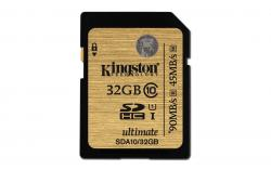 Kingston SDHC 32GB class 10 UHS-I Ultimate (r90MB,w45MB)
