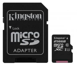 Kingston MicroSDXC 256GB UHS-I (r80MB,w10MB)