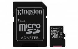 Kingston MicroSDXC 128GB Class 10 UHS-I (r80MB,w10MB)