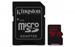 Kingston Canvas React MicroSDXC 128GB UHS-I V30 A1 (r100MB,w80MB)