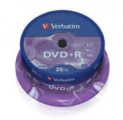 Verbatim DVD+R 25ks, 4.7GB 16x