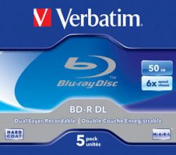Verbatim BD-R DL 5ks, 50GB 6x