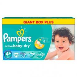 Pampers Active Baby-dry 4+ Maxi plus (9-16 kg) 96 ks