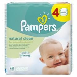 Pampers Natural clean 4x64 ks
