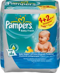 Pampers WIPES BABY FRESH 6x64 ks