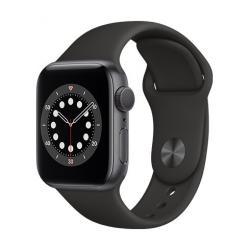 Apple Watch Series 6 GPS, 40mm Space Gray Aluminium Case with Black Sport Band  + VYHRAJ PEUGEOT 208